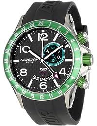 Torgoen Swiss T20302 - Reloj analógico de cuarzo para hombre con correa de plástico, color negro