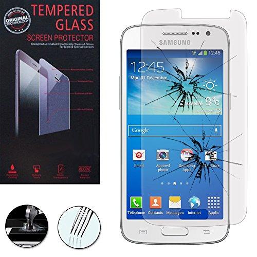 VCOMP® Hochwertige gehärtete Panzerglasfolie für Samsung Galaxy Core LTE 4G SM-G386F - TRANSPARENT