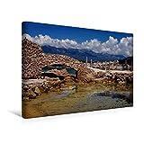 Premium Textil-Leinwand 45 cm x 30 cm quer, Port de La Tonnara im Südwesten Korsikas | Wandbild, Bild auf Keilrahmen, Fertigbild auf echter Leinwand, Leinwanddruck (CALVENDO Orte)