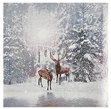 Miss Lovely Weihnachts-Servietten Winter-Landschaft Hirsche im Wald Tisch-Dekoration Weihnachts-Deko Winter Weihnachten & Advent 60 Servietten