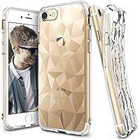 Custodia iPhone 7, Ringke [AIR PRISM] 3D Design contemporaneo ed elegante e ultrasottile ed elegante geometrico Disegno flessibile pieno-corpo protettivo testurizzata TPU resistente alle cadute coprire per Apple iPhone 7 - Clear