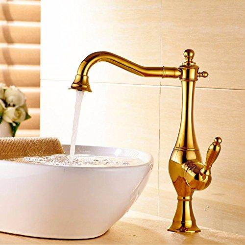Preisvergleich Produktbild Buluke Europäischen Luxus Kupfer warmes und kaltes Wasser Waschbecken Wasserhahn