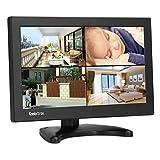 Koolertron 11.6 Zoll CCTV-Monitor 1366 * 768 Auflösung 16: 9 TFT LCD Monitor mit HDMI / VGA / BNC / AV Audiolautsprecher-Hafen Stützen 1080P für DSLR / PC / CCTV Kamera / DVD / Auto-Unterstützungskamera / Hauptbüroüberwachung-sicheres System