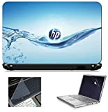 #3: Namo Art 3in1 Laptop Accessories Combo Kit - Laptop Skins 15.6 inch Stickers with Laptop Screen Protector and Laptop KeyGuard for All Laptop - Notebook HQ1005 Water HP