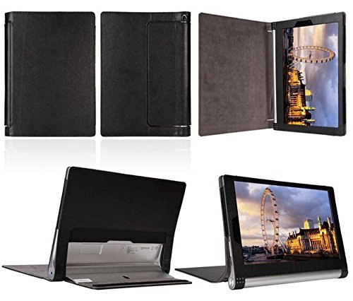 ProElite PU Leather Flip case cover for Lenovo Yoga Tab 3 8″ 850F (will only fit yoga tab 3) [Black]