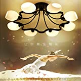 Scarica Libro Personalita Creative ferro fiori Led luce da soffitto elegante lounge elegante luce per l arte del vetro Camere Ristorante lampade (PDF,EPUB,MOBI) Online Italiano Gratis