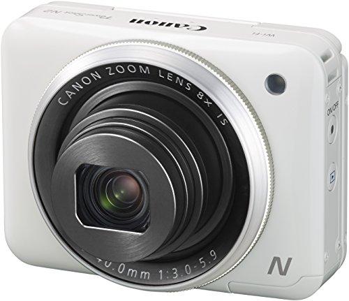 Canon PowerShot N2 Digitalkamera (16,1 MPCMOS, HS-System, 8-fach optisch, Zoom, opt. Bildstabilisator, 7,1cm (2,8 Zoll) Tilt-up Touch LCD, Selbstporträt, Full HD Movie, WLAN) weiß