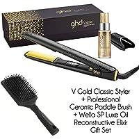 ghd - Set de peluqueros clásicos con cepillo de cerámica y aceite de lujo ...