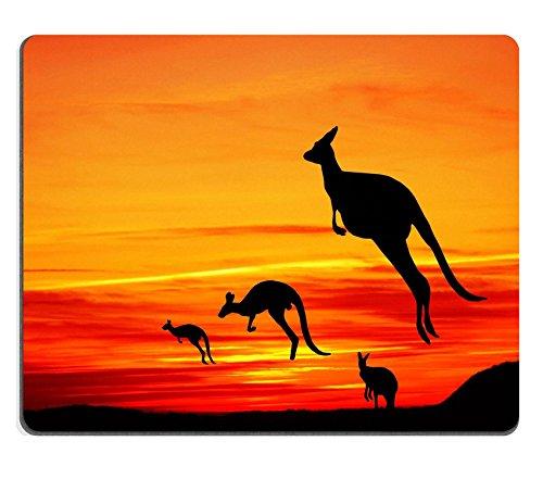 Kangaroos Mousepads australiano immagine di paesaggio ID by 20380975 Liili personalizzato Mousepads resistenza alle macchie Collector-Kit da cucina da tavolo Drink personalizzato resistenza alle macchie Collector-Kit da cucina, da tavolo
