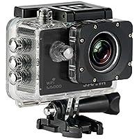 SJCAM SJ-5000-WIFI SJ5000 Deutsche Version Wasserdichte Sport Actionkamera (5,08 cm (2 Zoll), FHD, 1080p, 30m, 14MP, 16 Zubehörteile) Schwarz