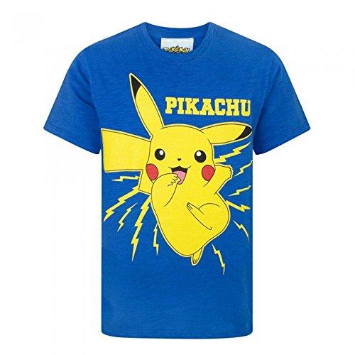 Pokemon-Camiseta-de-manga-corta-oficial-de-Pikachu-para-nio