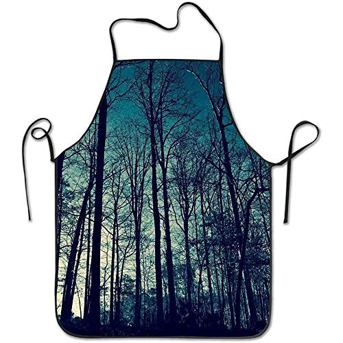 Aprons Blue Sky High Trees Funny Cooking Apron for Men Women - BBQ Grill Kitchen Chef Barbecue Gifts, One Size Fits Most