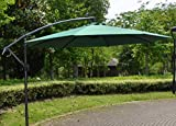 Garden Sun Parasol Banana Hanging Patio Ombrellone Outdoor Beach Shade A Sbalzo,Green