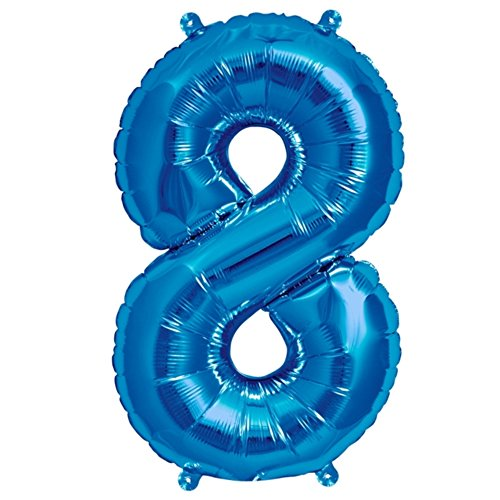 Zahl 8 in Blau - XXL 40