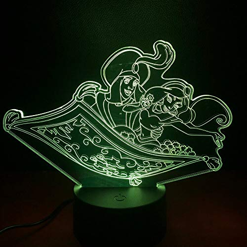 Aladdin Prinz Prinzessin Jasmin Dekorative Kinder LED nachtlichter Kinder Schlafzimmer Beste Kühle...