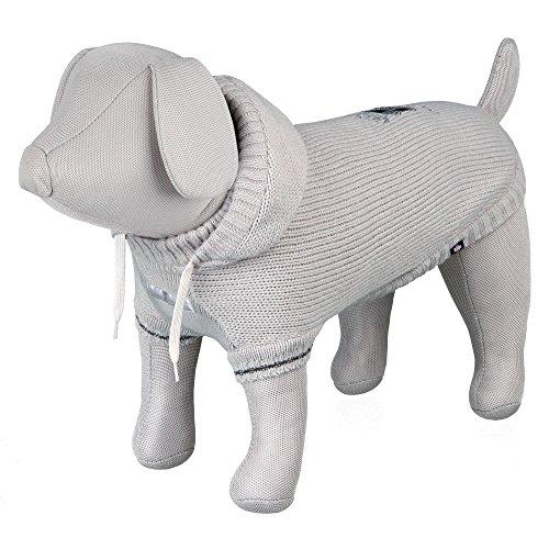 Trixie Pullover Prince Hund, 33cm, grau - Maßgeschneiderte Wolle Pullover