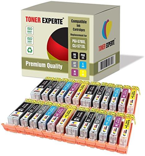 Preisvergleich Produktbild 24 XL TONER EXPERTE® PGI-570XL CLI-571XL Druckerpatronen kompatibel für Canon Pixma MG7750, MG7751, MG7752, MG7753, TS8050, TS8051, TS8052, TS8053, TS9050, TS9055