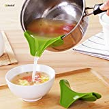 ON GATE Anti-Spill Silicone Slip On Pour Soup Spout Funnel for Pots Pans and Bowls and Jars
