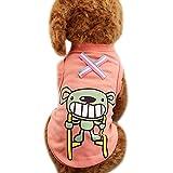 Abbigliamento per Cani da compagnia, pergrate Carino gatto cucciolo estate cotone gilet di cartone animato di stampa T-shirt costumi abbigliamento cappotto più la taglia