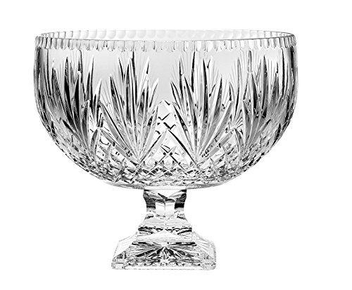 BARSKI-Europäische Kristall-HANDARBEIT-Große Mittelpunkt Pokalschale-Bowle-30,5cm D-(30,5cm Durchmesser)-270oz-8,5Quarts-Made in Europe Cut Punch Bowl