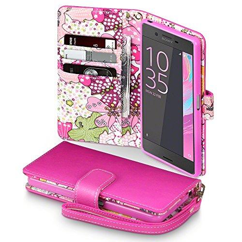 terrapin-premium-di-cuoio-del-raccoglitore-per-sony-xperia-x-cover-pelle-colore-rosa-giglio-floreale