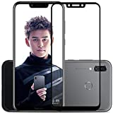 Tingtong Full Glue, Full Coverage Edge-to-Edge 6D Tempered Glass Screen Protector for Huawei Honor Play (Black)