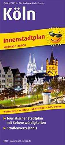 Köln: Touristischer Innenstadtplan mit Sehenswürdigkeiten und Straßenverzeichnis. 1:18000 (Stadtplan / SP)