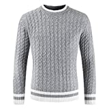 Kanpola Herren Pullover Männer Herbst Winter Casual Sweatjacke Strickpullover Langarm Slim Fit Shirt Knit Sweat