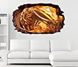 3D Wandtattoo Weinbrand Glas gold Wein abstrakt selbstklebend Wandbild Tattoo Wohnzimmer Wand Aufkleber 11L289, Wandbild Größe F:ca. 140cmx82cm