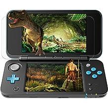 Nintendo 2DS XL Protector de pantalla, SPARIN Protectors de pantalla [Sin burbuja] [Alta respuesta] con Nintendo 2DS XL[Anti-Arañazos]