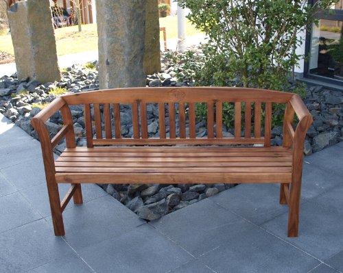 TPFGarden Holzbank ROSALI 157cm 3-sitzer aus Akazie Massiv Farbton: Braun