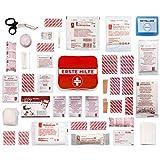 2-in-1 Erste Hilfe Set [Deutschsprachige Markeninhalte nach DIN-Norm] inkl. Pflaster Tasche für den Notfall - Mit Bonus Verbands-Kasten für Wandern, Reise, Zuhause, Kinder & Baby