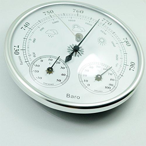 LanLan Thermometer Hygrometer 3 in 1 Wand montiert Haushalt Thermometer Hygrometer Hohe Genauigkeit Manometer Wetter Instrument Barometer
