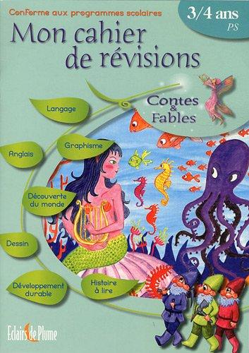 Cahier de révisions contes et fables de 3 à 4 ans