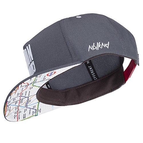 Nebelkind Snapback Cap grau mit original Londoner Netzplan / U-Bahn Netz edel onesize unisex