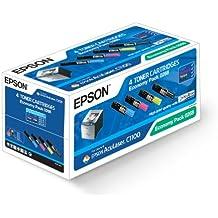 Epson C13S050268 Pack 3 laser toner cartridge Colour + 1 Black Aculaser S050268