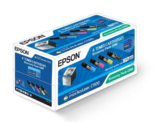 Epson C13S050268 AcuLaser C1100 Tonerkartusche schwarz und farbig schwarz 4.000 Seiten /...
