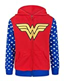Wonder Woman Logo Girl's Zip-Up Hoodie