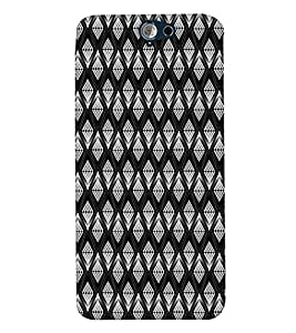 PrintVisa Corporate Print & Pattern Wired Mesh 3D Hard Polycarbonate Designer Back Case Cover for HTC One A9