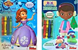 Christmas Childrens Coloring Book Gift Set Includes Sofia The First Coloring And Activity Book With 2 Sticker Sheets Inside, Doc Mc Stuffins Coloring And Activity Book With 2 Sticker Sheets