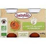 Babybio - Purée De Carottes Et Potimarron, Dès 4 Mois, Certifié AB - (Prix Par Unité ) - Produit Bio Agrée Par AB