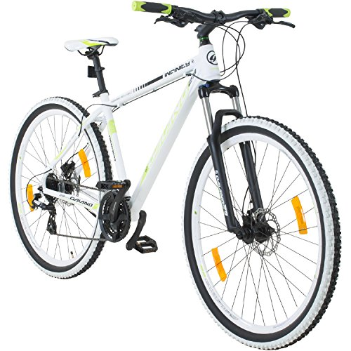 Galano 29 Zoll MTB Infinity Mountainbike Scheibenbremsen Shimano (Weiss/grün)