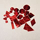 Strasssteine mit Spiegeloberfläche aus Acryl mit flacher Rückseite zum Aufnähen, Perlen mit Loch für Hochzeitskleider, Bekleidung, Taschen, Schuhe, Dekorationen und Accessoires rot