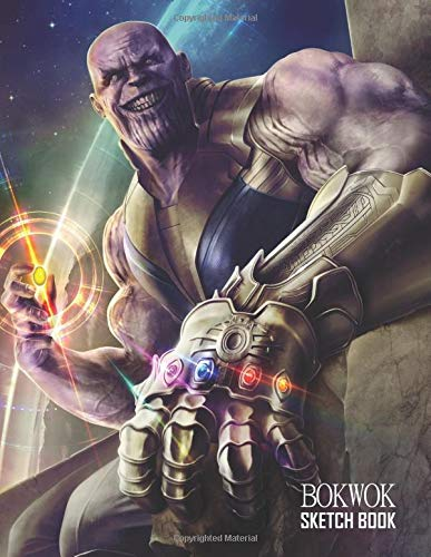 Sketch Book: Thanos Sketchbook 129 pages, Sketching, Drawing and Creative Doodling Notebook to Draw and Journal 8.5 x 11 in large (21.59 x 27.94 cm)