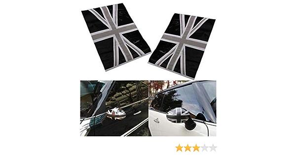 Sucan 2 Stücke Schwarz Union Jack Flag Vinyl Spiegel Aufkleber Für Mini Cooper Auto
