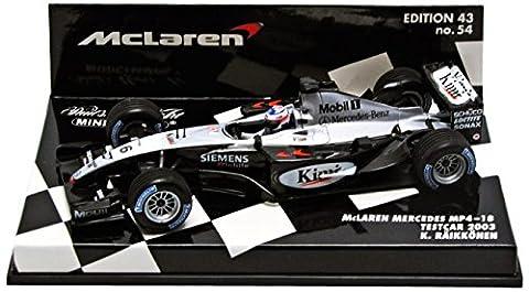 Minichamps - 530034316 - Véhicule Miniature - Modèle À L'échelle - McLaren Mp4/18 - Test Car 2003 - Echelle 1/43