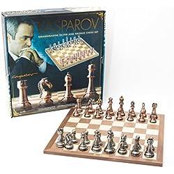 France Cartes Kas006-Juego de ajedrez, Caja-Kasparov, Color Plateado y bronce-50 Cm