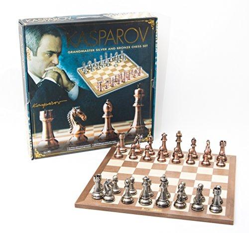 France Cartes - Kas006 - Jeu D'échecs - Coffret - Kasparov - Argent/Bronze - 50 Cm