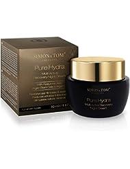 Simon & Tom Pure Hydra Multi Active Recovery Night Cream, soin de nuit hydratant et réparateur avec effet Anti-âge éfficace. Pour tous types de peaux ✔ non gras ✔ sans parabène ✔ Vegan ✔50 ML