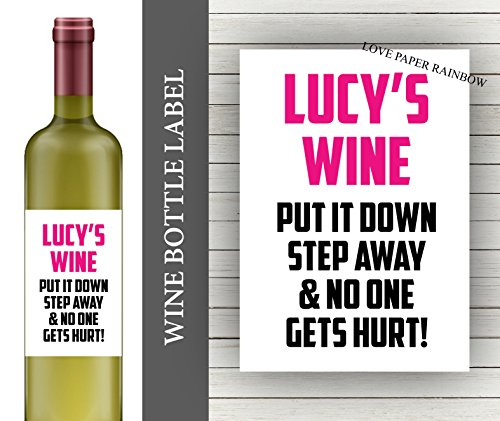 Funny Birthday Gift Personalised Wine Bottle Label 21st For Her Friend